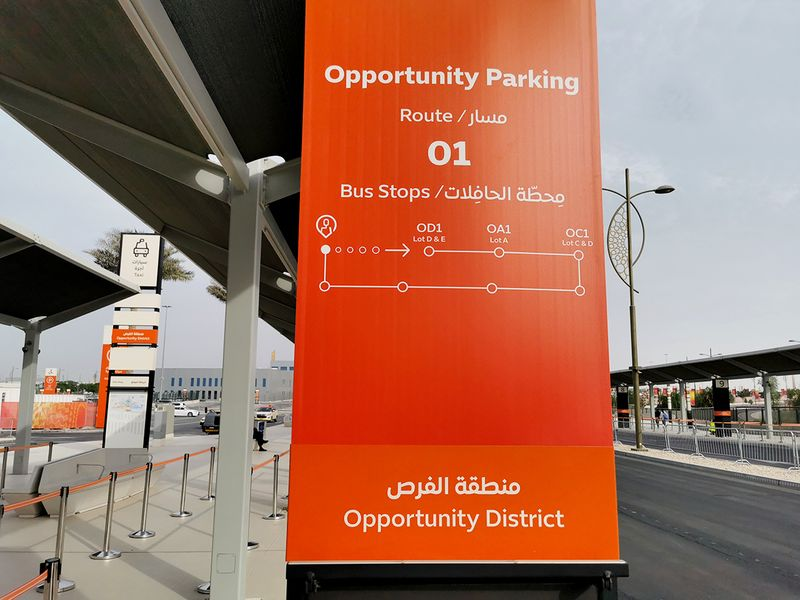 expo 2020 parking guide