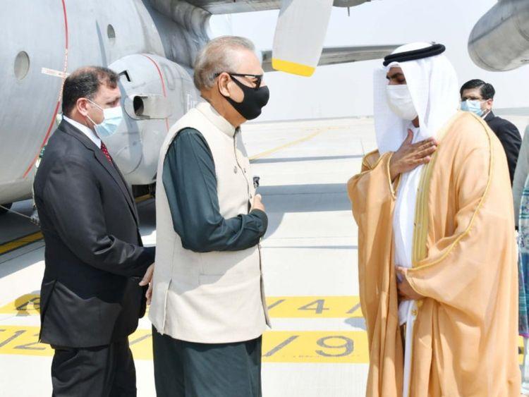 Pak president arrive-1633771957065
