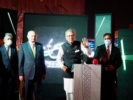 Pakistan President Dr Arif Alvi officially opened the Pakistan Pavilion at Expo 2020 Dubai on Saturday