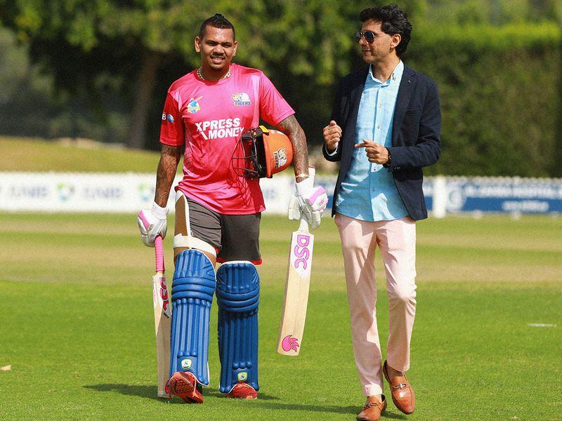 Anis Sajan with Sunil Narine
