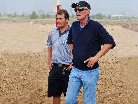 Peter Harradine and his son Michael