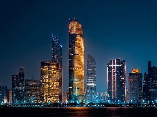 Stock - Abu Dhabi skyline