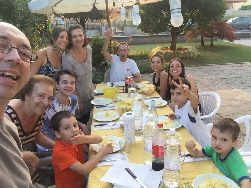 Marcello Rivetti and family bonding over food