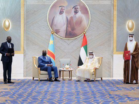 Sheikh Mohammed bin Rashid Al Maktoum with the President of the Democratic Republic of the Congo (DRC).
