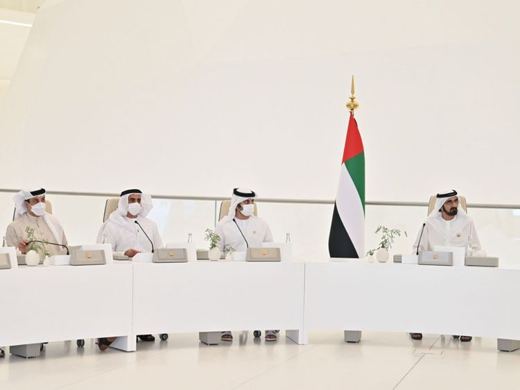 Stock - Sheikh Mohammed at Federal Budget Meeting