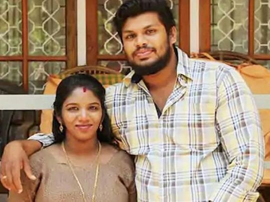 UTHRA AND HUSBAND- SUPPLIED
