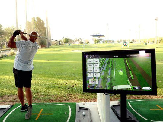 Technology on the Abu Dhabi City Golf club range
