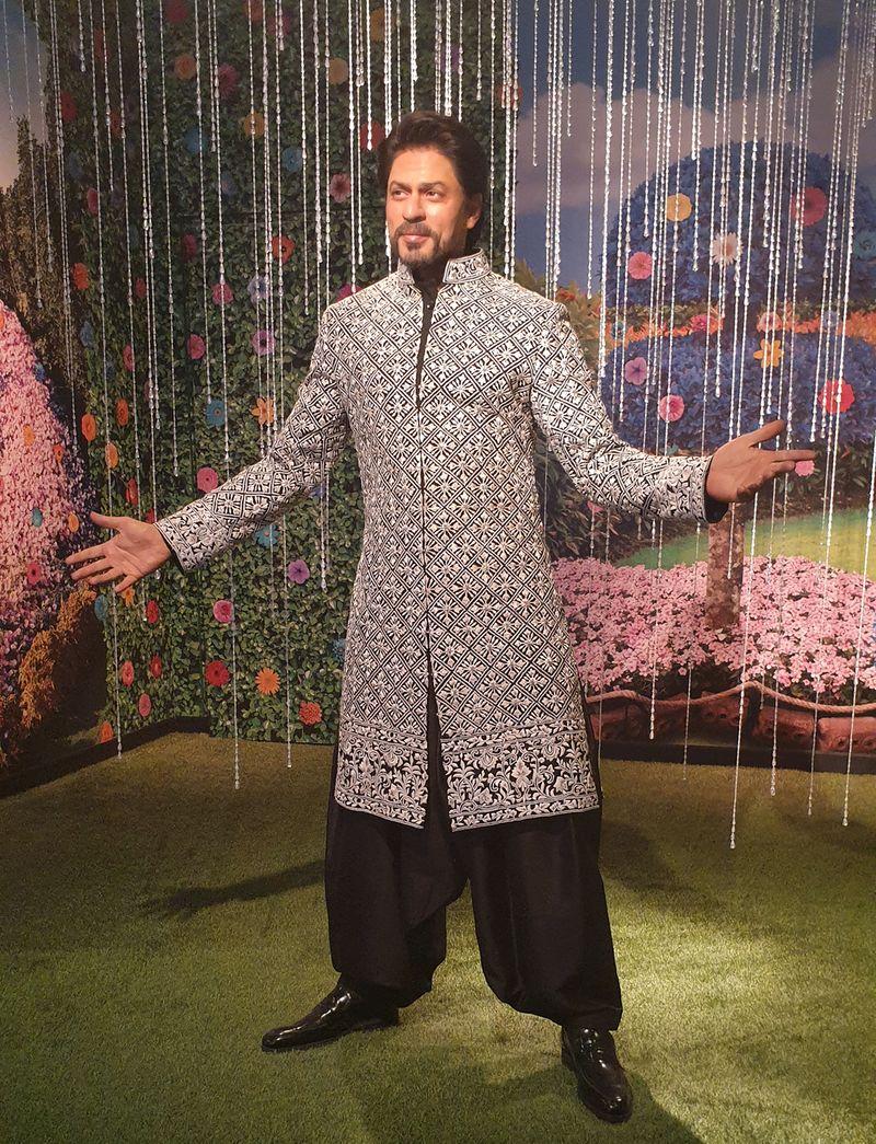 Wax statue of Bollywood star Shah Rukh Khan at Madame Tussauds Dubai
