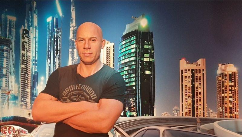 Wax statue of Vin Diesel at Madame Tussauds Dubai