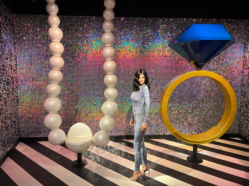 Wax statue of reality TV star Kylie Jenner at Madame Tussauds Dubai