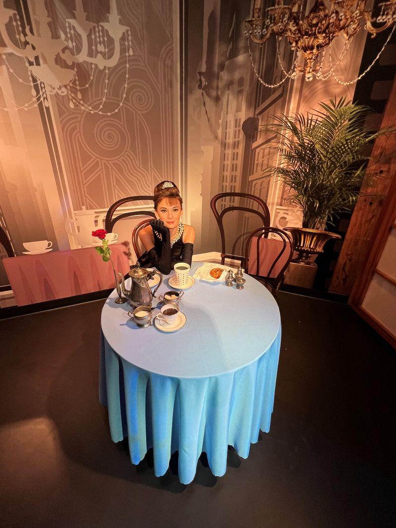 Audrey Hepburn wax figure at Madame Tussauds Dubai
