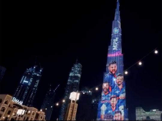Team India's new jersey displayed at Burj Khalifa