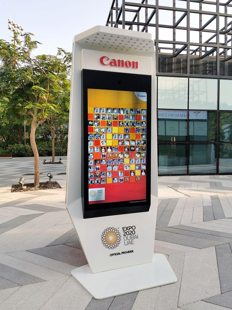 canon photo kiosks expo 2020