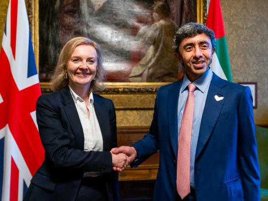 UAE FM discusses strengthening ties with UK in official visit