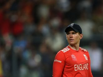 England's Eoin Morgan looks on after defeat in the 2016 T20 World Cup final against West Indies