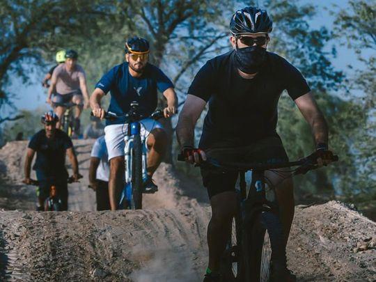 Hamdan mountain bike track Mushrif Park