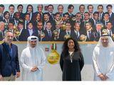 Saeed Hareb, Secretary General of Dubai Sports Council, with Fatma Samoura, the Secretary General of Fifa, former France international Youri Djorkaeff and Nasser Aman Al Rahma, Assistant Secretary General of DSC