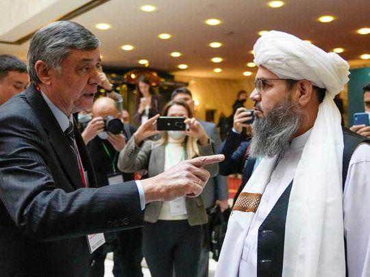 Russian presidential envoy to Afghanistan Zamir Kabulov Mawlawi Shahabuddin Dilawar