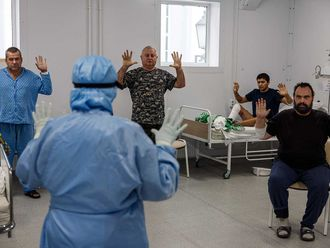 covid russia breathing exercises hospital