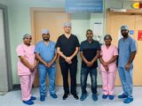 Dr Sanjay Rajdev and team with patient Abdul Samad Mohammad Shaliheen-1635312290039