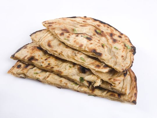 Clay oven bread (Lacha Paratha)