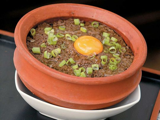 Claypot Rice with Minced Beef
