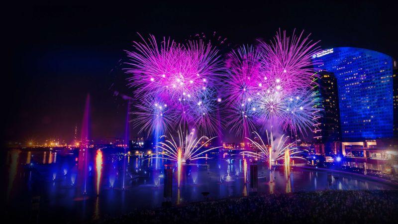 Dubai festival CIty Fireworks