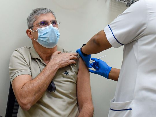 Dubai residents line up for Covid-19 vaccination