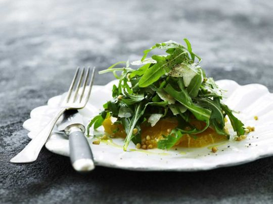 Orange and rocket salad