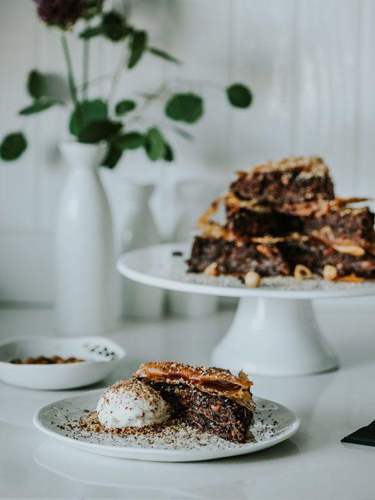 Chocolate hazelnut baklava