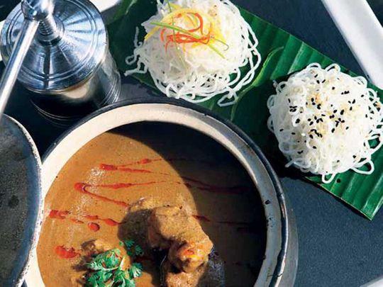 Kalchatti hammour curry with idiyappam