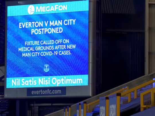 Manchester City v Everton was called off