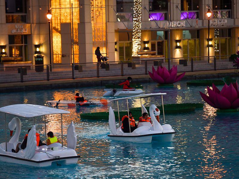 Dubai New year lights