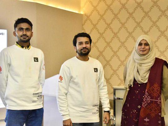 Pakistani students, Kalim Ullah, Maria Aftab and Asadullah ICT championship