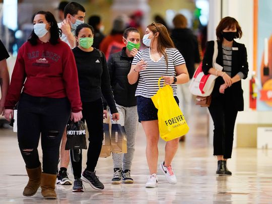 Shoppers at Park Meadows Mall in Lone Tree, Colorado.