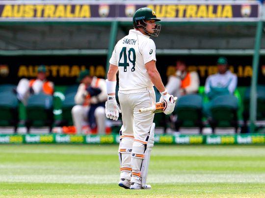 Steve Smith struggled in the Melbourne Test