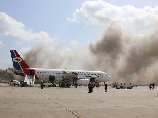 Yemen Aden airport blast