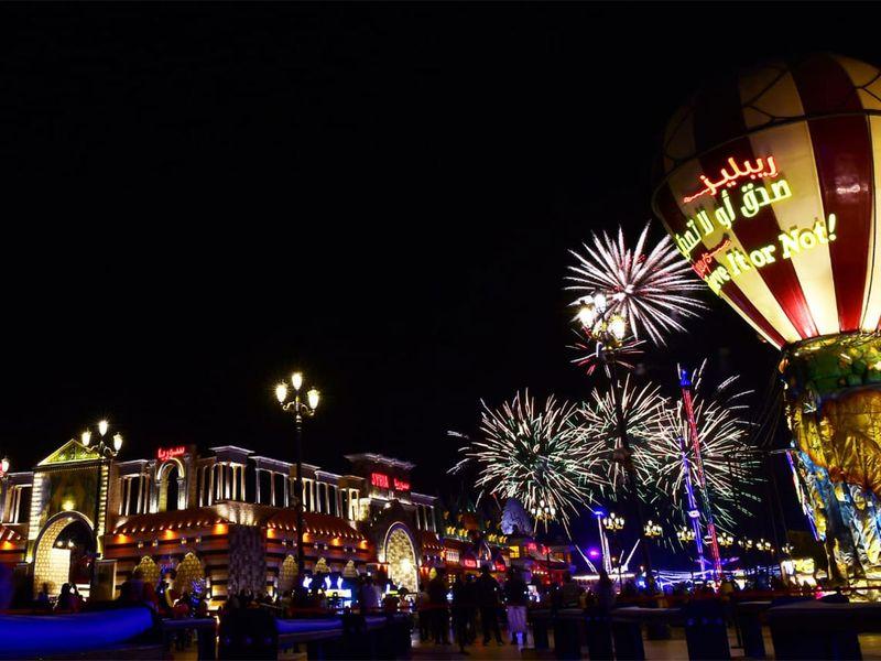NYE global village fireworks
